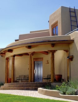 Great roomhwbdo09483 adobe house plan builderhouseplans for Adobe home designs